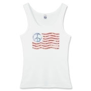 Peace sign American flag designed to look like a stencil, on t-shirts for men, women, and kids too.  See our full selection of peace signs at our sister store.  Follow link.