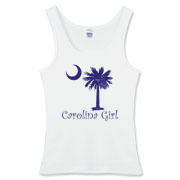 Carolina Girls are the best in the world! Choose your favorite shirt style and color for this purple version of our popular carolina girl design that also features the palmetto and moon logo of South Carolina.
