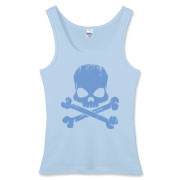 Blue Skull Women's Fitted Tank Top