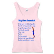 Why I Love Basketball Women's Fitted Tank Top
