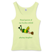 Proud of Infielder Daughter Women's Fitted Tank To