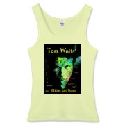 Tom Waits t-shirts for Rain Dogs.  Tom Waits tank top for hip ladies Glitter and Doom 2008 Tom Waits tour now on vinyl!  A must for your Bucket List. Audible heaven.