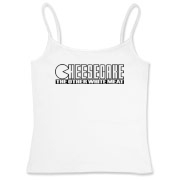 Women's Fitted Camisole Tank - Cheesecake (blk)