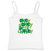 It's a funny rhyming phrase we've heard before. Probably from a cartoon. It means every thing is hunky dory. Get the Okey Dokey Artichokey T-Shirt here.