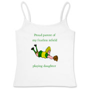 Proud of Infielder Daughter Women's Fitted Camisol