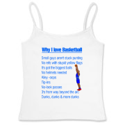 Why I Love Basketball Women's Fitted Camisole Tank