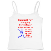Slugging Percentage Women's Fitted Camisole Tank