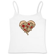 For those that love pizza so much they would want to wear it on their shirt.