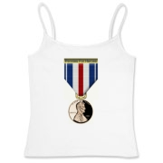 Pennies For Heroes Medal Women's Fitted Camisole T