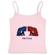 Cat Crazy. Blue swirl cat, Women's Fitted Camisole Tank