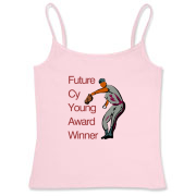 Future Cy Young Winner Women's Fitted Camisole Tan