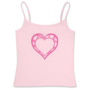 Be My Valentine? Pink plaid open heart Women's Fitted Camisole Tank