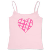 Be My Valentine? Pink plaid heart Women's Fitted Camisole Tank Top