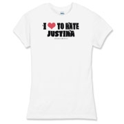 I Love To Hate Justina Women's Fitted Fine Jersey
