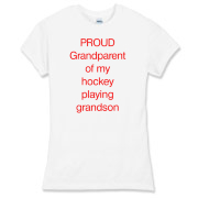 Proud of hockey grandson Women's Fitted Fine Jerse