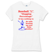 Slugging Percentage Women's Fitted Fine Jersey Tee