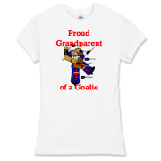 Goalie Grandparent Women's Fitted Fine Jersey Tee