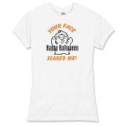 Halloween ghosts, scary face trick or treat bags, adult tee's and kids apparel including Halloween gift ideas.  Browse our store for more gifts at: <a href=http://www.bonfiredesigns.com/halloween.htm> Halloween Gifts and Decorations