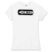 My Way Collection Women's Fitted Fine Jersey Tee