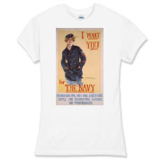 I Want You...for the Navy Women's Fitted Fine Jers