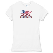 AmeriCymru Dragon Women's Fitted Fine Jersey Tee