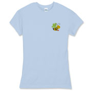 Bee with Logo on Back,  Women's Fitted Fine Jersey