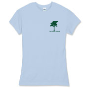 Blue Women's Fitted Fine Jersey Tee