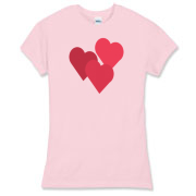 Heart design women's clohting