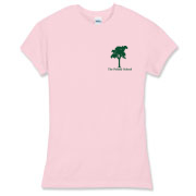 Pink Women's Fitted Fine Jersey Tee