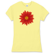 Gerbera flower close-up illustration. Bright, eye catching colors, tender petals, details shown really well.