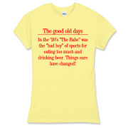 Good Old Days Women's Fitted Fine Jersey Tee