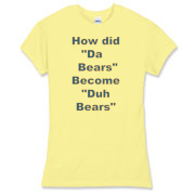 Duh Bears  Women's Fitted Fine Jer