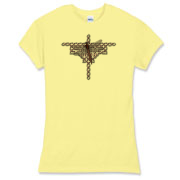 A design for Celtic art lovers, as well as for those who love dragonflies. A Celtic knotwork design, textured in chrome metallic, in the shape of a dragonfly - with a real one sitting in the center.